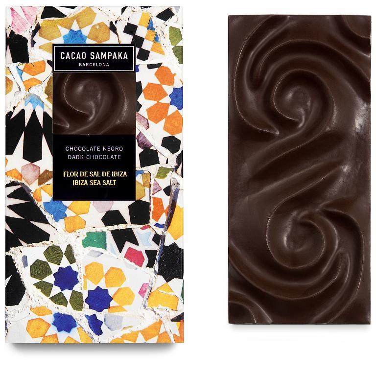 Cacao Sampaka tmavá čokoláda mořská sůl 75g