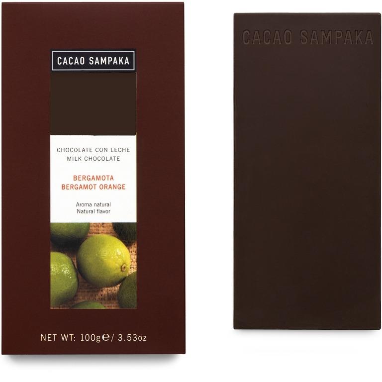Cacao Sampaka mléčná čokoláda s bergamotem 100g
