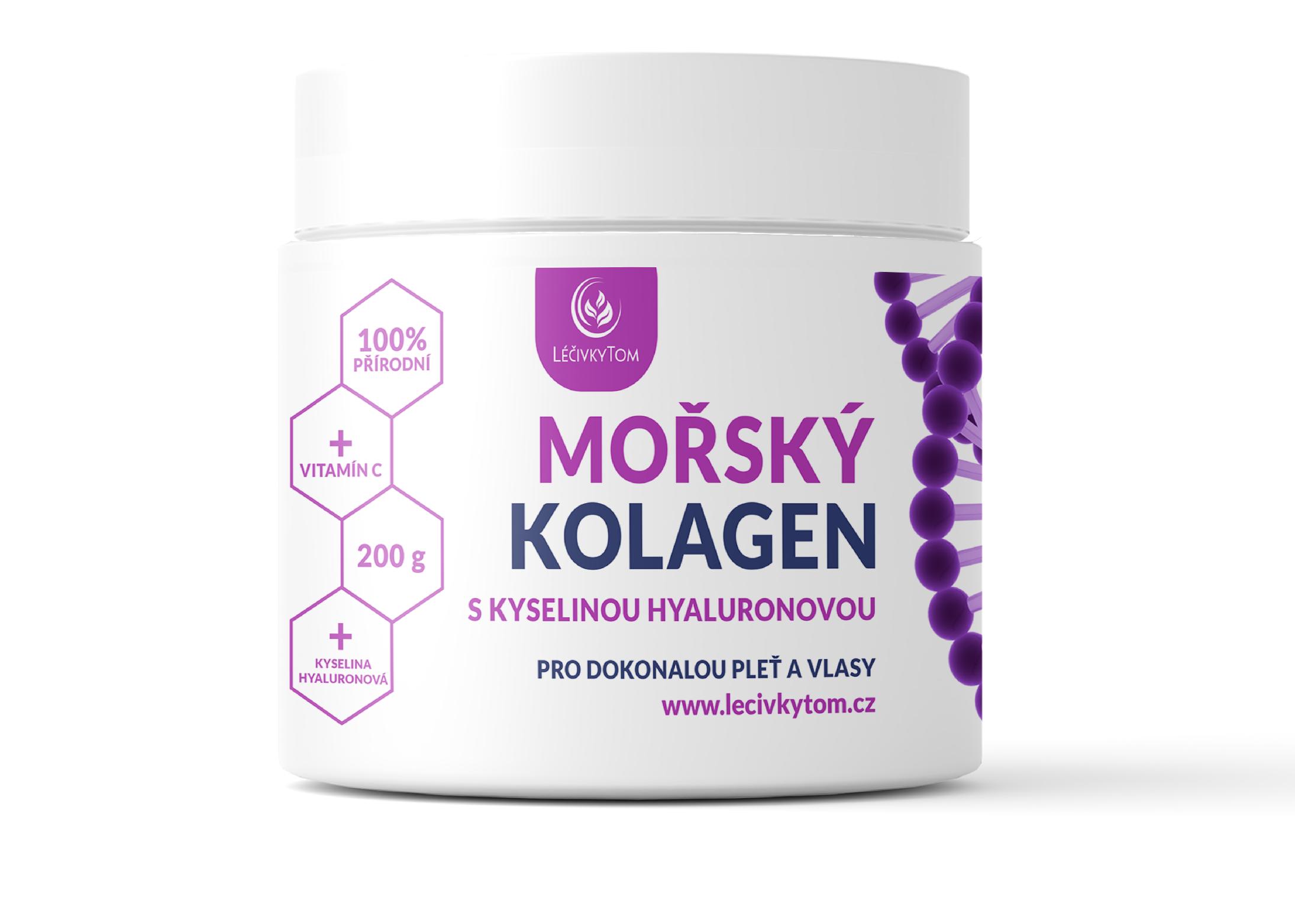 LéčivkyTom Mořský kolagen s kyselinou hyaluronovou (200 g)