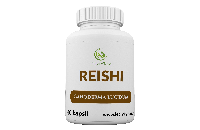 LéčivkyTom Reishi - 100% prášek sušené plodnice (60 kapslí)