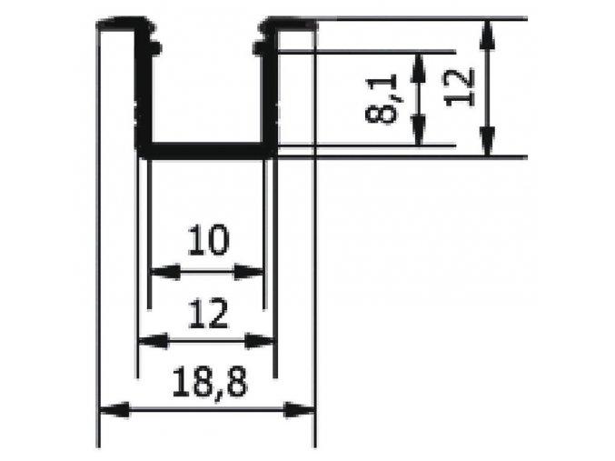 Profil WIRELI SMART-IN10 A/Z hliník anoda 2m