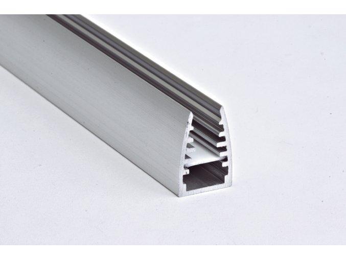 Lišta WIR09 MIKRO na sklo 6mm hliník anoda 2m