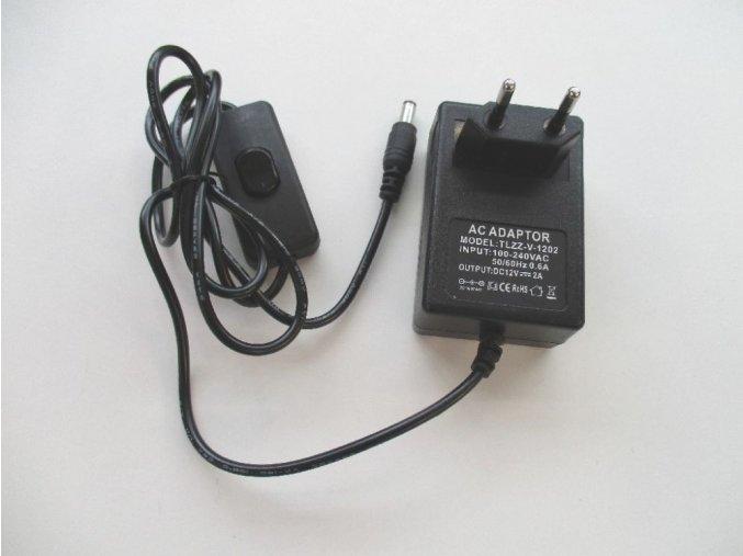 LED zdroj 12V/24W s vypínačem černý