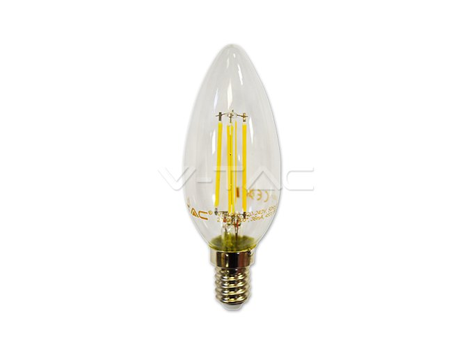 LED Bulb - 4W Filament Cross E14 Candle 2700K Dimmable
