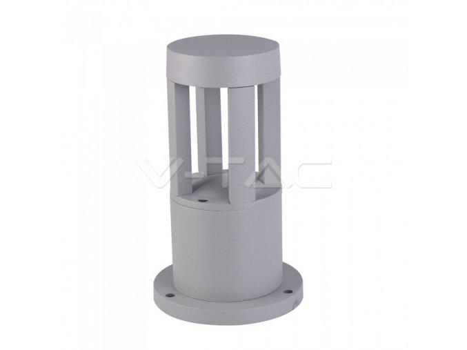 Venkovní LED sloupek šedý 25cm 10W IP65 3000K