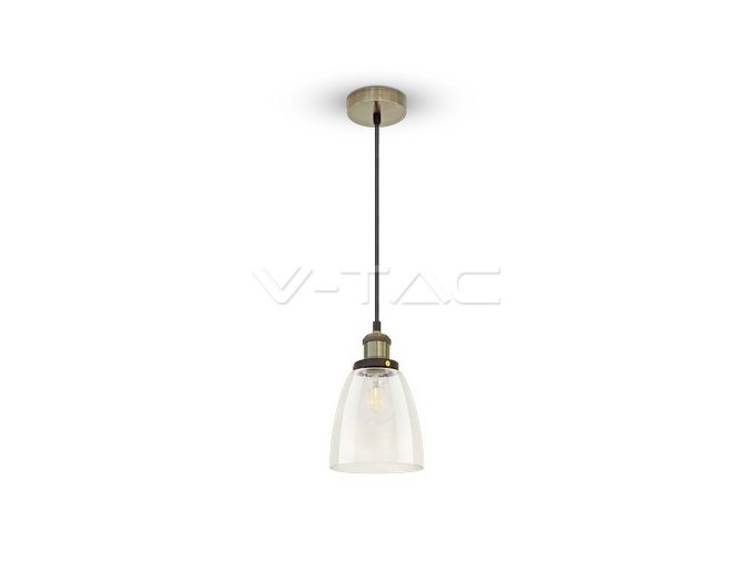 Vintage Glass Pendant Light Transparent Ф140
