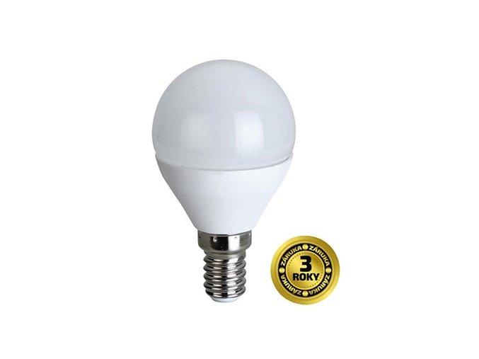 Žárovka LED G45 E14 4W bílá teplá SOLIGHT
