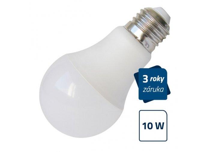 LED žárovka A60, E27, 10W, bílá přírodní GETI