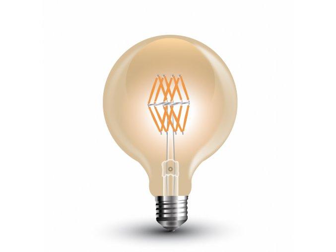LED žárovka VINTAGE 8W WW vlákno E27