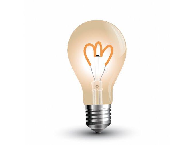 Retro LED žárovka 3W zakroucené vlákno - WW