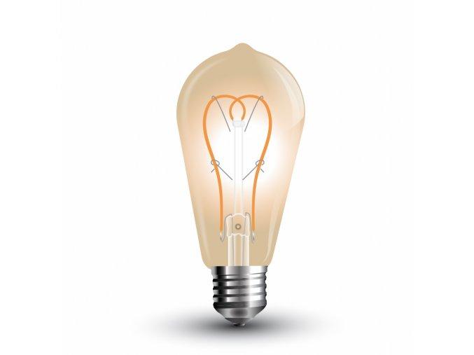 "LED žárovka 5W ""srdce"" filament jantar"
