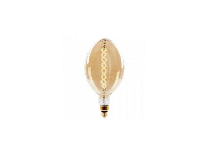 vtac 7463 v tac vt 2168d 8w led bulb vintage xl bf180 double filament amber glass e27 2000k dimmable sku 7463 797