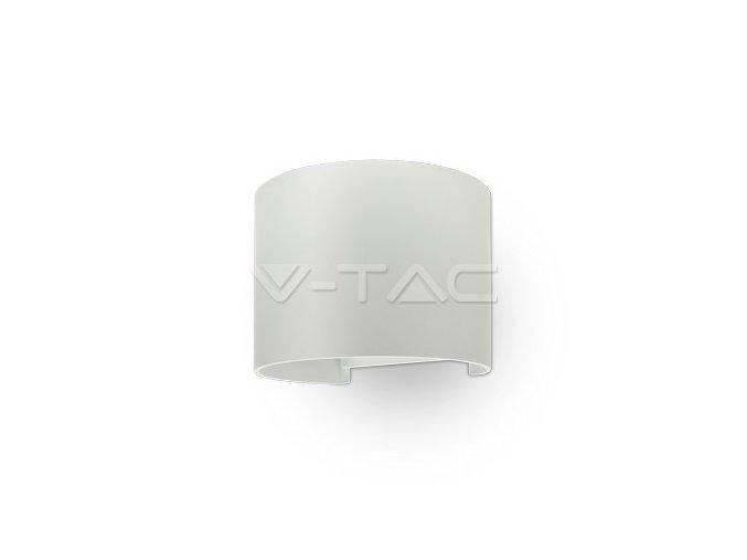 LED nástěnné světlo oblé, bílé, 6W, WW, IP65