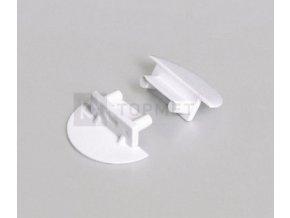 Koncovka BEGTIN12  půlkulatá s otvorem pro kabel, pár(šedá, bílá)