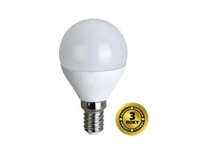 Žárovka LED miniglobe E14 8W bílá neutrální SOLIGHT 3 roky záruka, WZ430