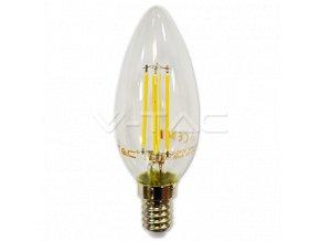 LED žárovka svíčka E14 4W WW