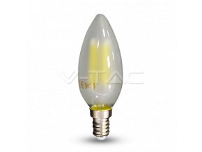 LED Bulb - 4W Filament E14 Frost Cover Candle Warm White