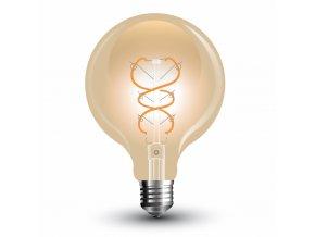 LED Bulb - 5W Filament E27 G125 Gold Glass Curve Shape Warm White
