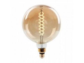 vtac 7462 v tac vt 2158d 8w led globe bulb vintage xl g200 double filament amber glass e27 2000k dimmable sku 7462 276