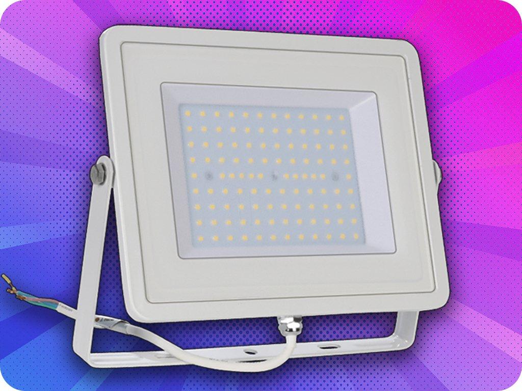 Led Reflektor 100W, 8500 lm, Bílý  + Zdarma záruka okamžitej výmeny !