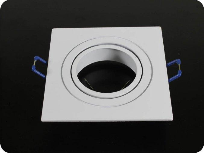 Rámeček Na Bodové Žárovku Gu10, Čtvercový, Pohyblivý (Farba rámiku BroušenýHliník)