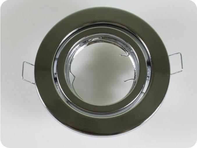 Rámeček Na Bodů Žárovku Gu10 / Gu5.3, Kruhový, Pohyblivý (Farba rámiku Chrom)