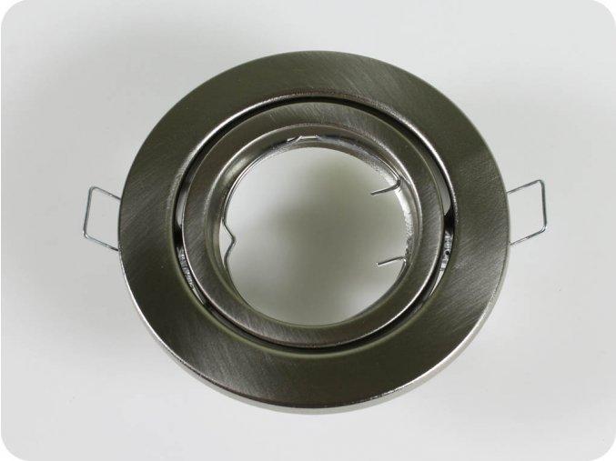 Rámeček Na Bodovou Žárovku Gu10 / Gu5.3, Kruhový, Pohyblivý (Farba rámiku Chrom)