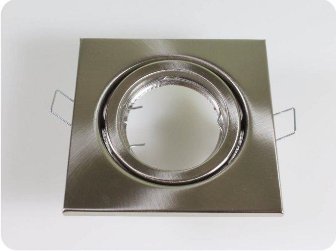 Rámeček Na Bodovou Žárovku Gu10 / Gu5.3, Čtvercový, Pohyblivý (Farba rámiku Chrom)