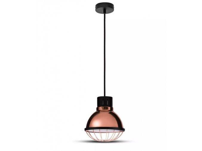 Závěsné LED svítidlo, E27, měď, průměr 250mm