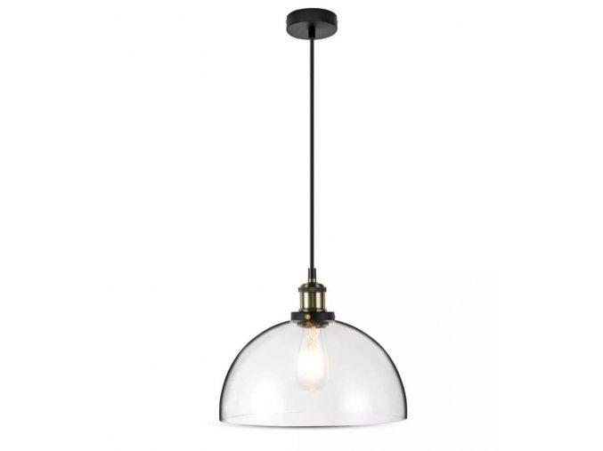 Závěsné LED svítidlo, E27, vintage sklo, Ø300mm