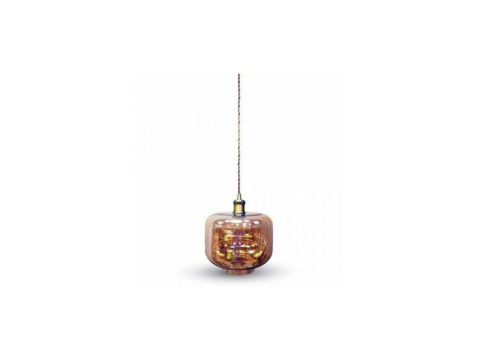 1163 1 zavesne svitidlo jantarove sklo 250 mm