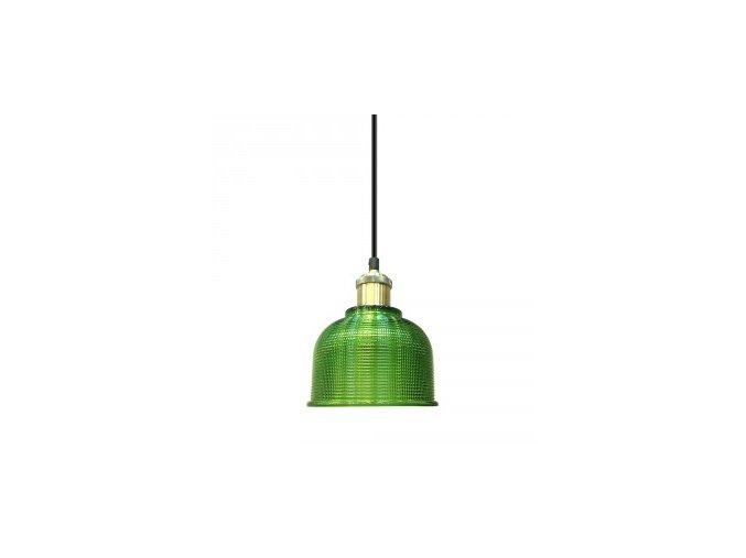 1169 2 zavesne svitidlo zelene sklo 145 mm
