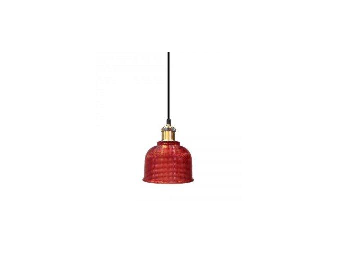 1172 2 zavesne svitidlo cervene sklo 145 mm