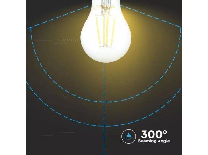 E27 Led Retro Filament Žárovka 4W, A60, Teplá Bílá 2700K, Stmívatelná