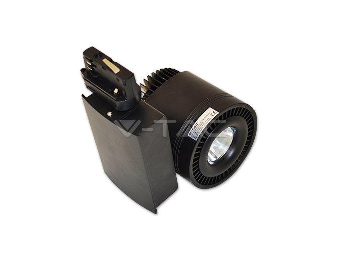 Kolejnicové Led Svítilna Cob 45W (2300Lm) - Premium Series, Černá Barva, (Barva světla Studená bílá)