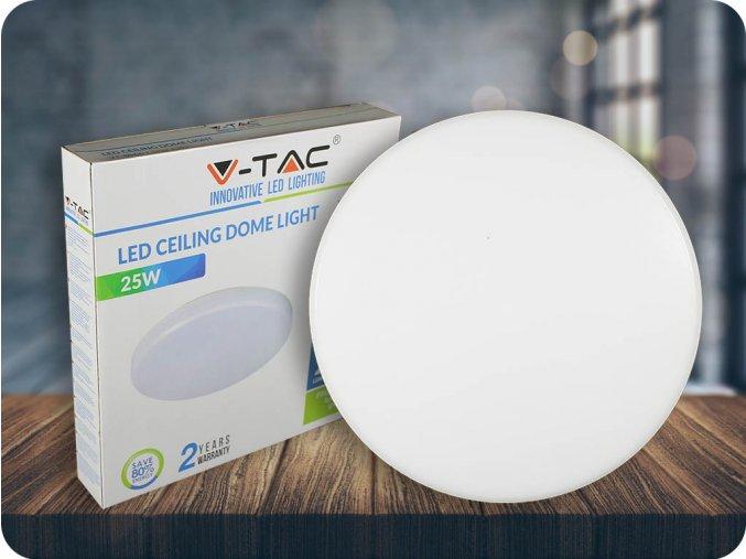 LED STROPNÍ SVÍTIDLO 25W (2000LM), KRUHOVÉ, IP44 (Barva světla Studená bílá      6400K)