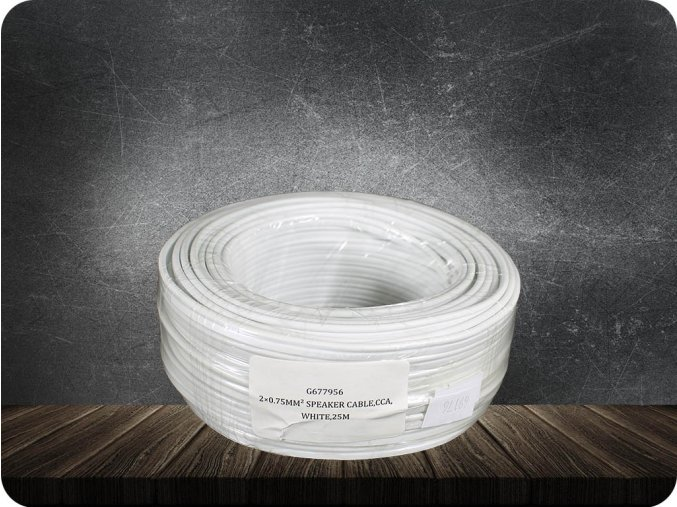 16036 1 kabel dvojlinka cca 2x0 75 mm2 bily