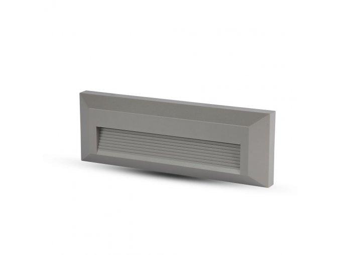 LED schodišťové světlo 3W (110 lm), šedé, IP65 (Barva světla Teplá bílá)