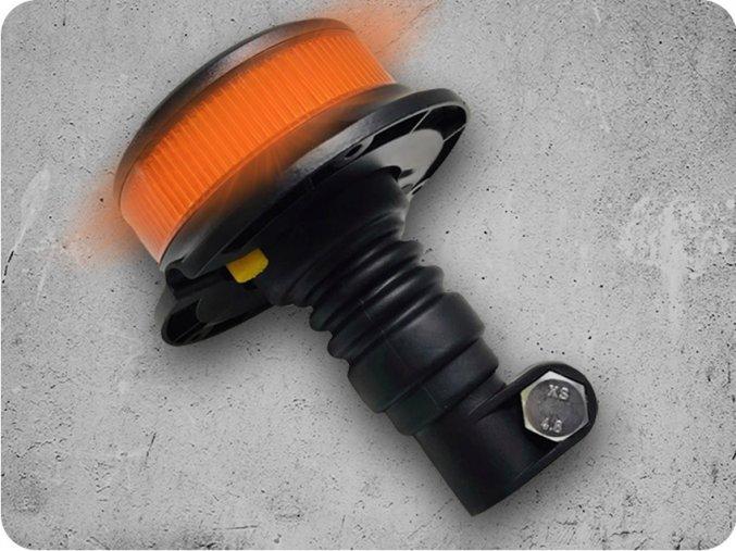 LED výstražné světlo PICO LED orange flex, R10 R65, s držákem