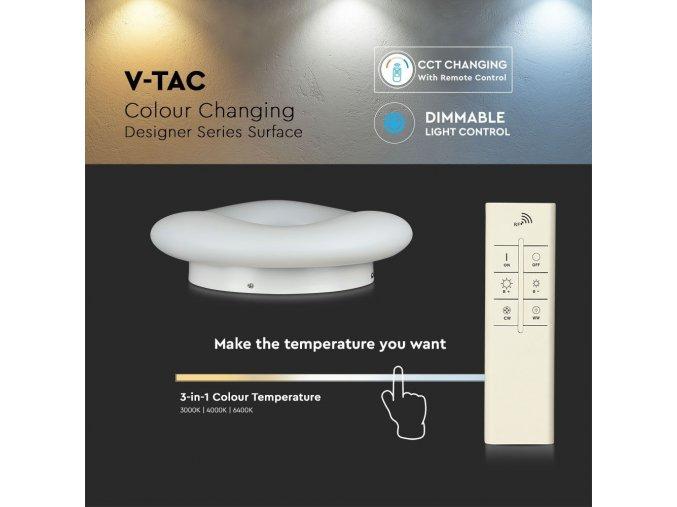 LED Designer stropní svítidlo 82W (7300LM), bílé, se změnou  světla, stmívatelné