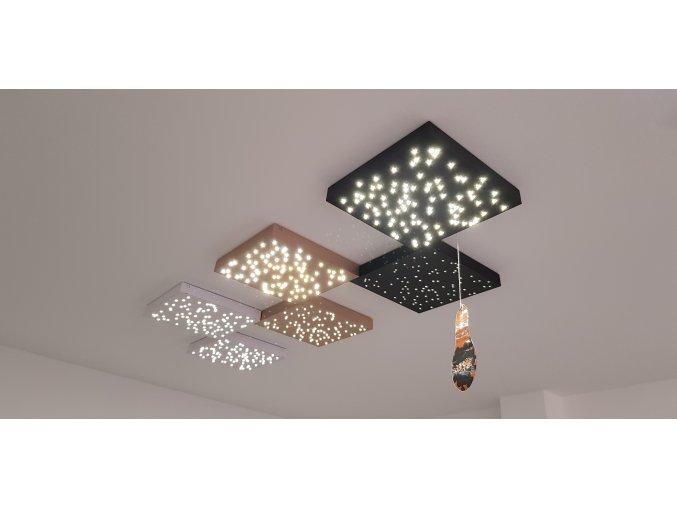 LED Designer stropní svítidlo 8W (900lm), bílé, zlaté a černé, 3000-4000K (Barva těla Zlatá)