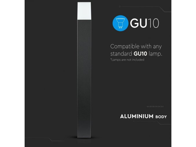 Nástěnné LED svítidlo 1xGU10, 80 cm, černé/bílé, IP54