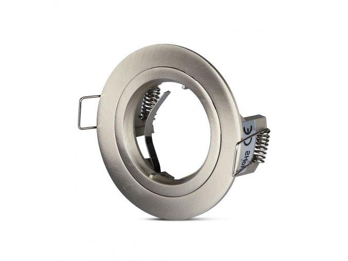 Rámeček na bodovou žárovku GU10, kulatý, rotační, Hliník (Farba rámiku Stříbrno šedá)