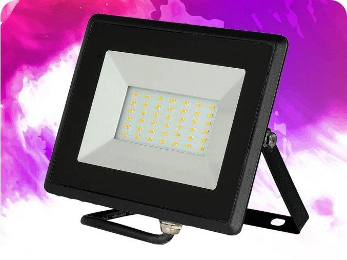 50W LED reflektor (4250lm), černý