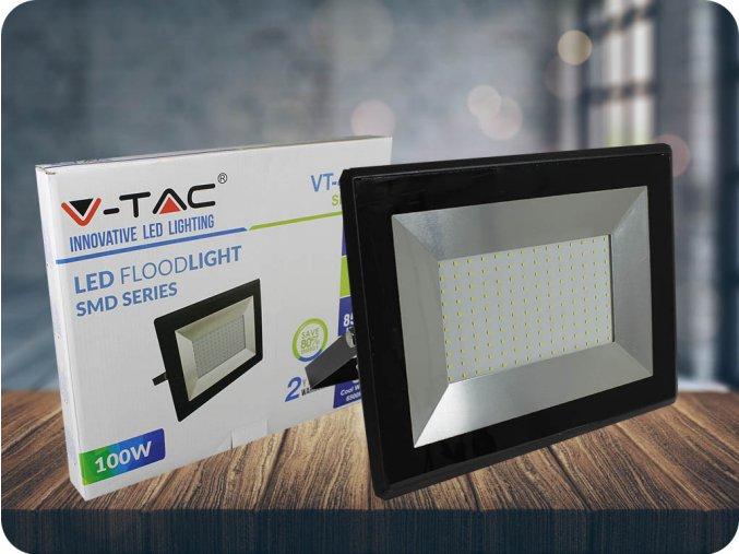 100W LED reflektor (8500lm), černý (Barva světla Studená bílá)