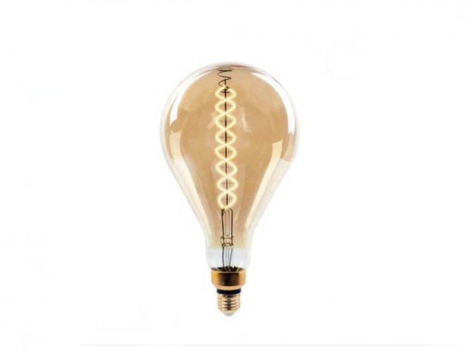 E27 LED Filament Retro žárovka 8W (500Lm), A165, stmívatelná, 2000K (Barva světla Teplá bílá)