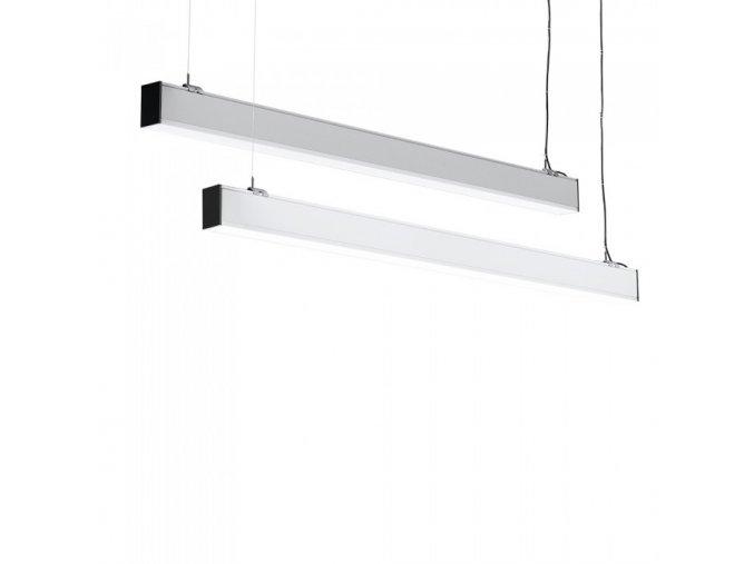 LED lineární závěsné svítidlo 40W, bílé nebo stříbrné, SAMSUNG chip, 4000K (Barva těla Chrom)