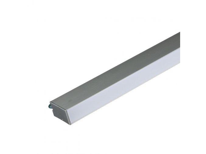 16802 2 led linearni zavesne svitidlo 40w stribrne samsung chip 4000k