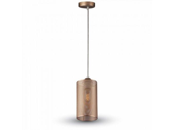 Závěsné LED svítidlo 1xE27, barva šampaňské zlato, černá a bílá (Barva těla Bílá)