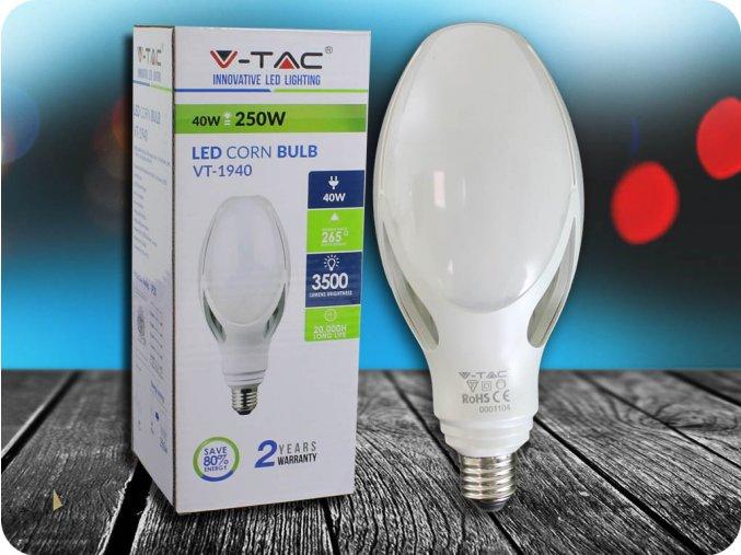 E27 Led Žárovka 40W (Barva světla Studená bílá)